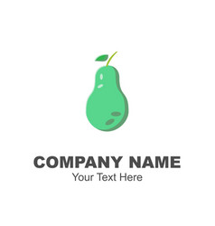 green avocado logo design vector image