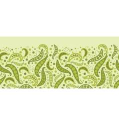 Green peas horizontal seamless pattern background vector image