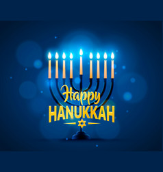 happy hanukkah background cover vector image