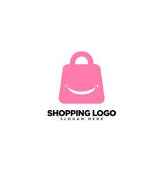 Happy shop logo design creative shop logo vector