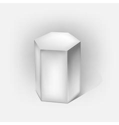 Hexagonal prism vector