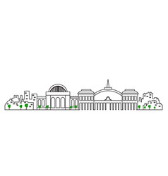 Isolated madrid cityscape vector