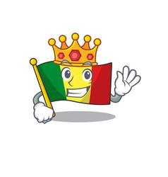 King indonesian flag mali on cartoon character vector