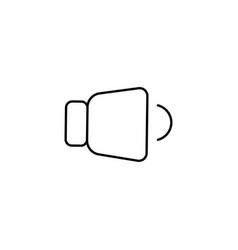 low level volume icon vector image
