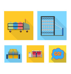 machine equipment spinning and other web icon vector image