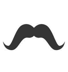 Moustache hair mouth face design vector