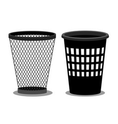 office style empty bins isolated on white vector image
