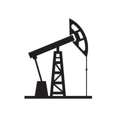 oil pump - black icon on white background vector image