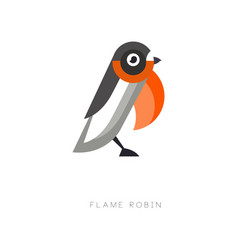 Original logo design of flame robin small vector