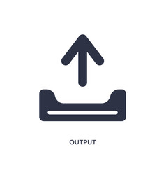 Output icon on white background simple element vector