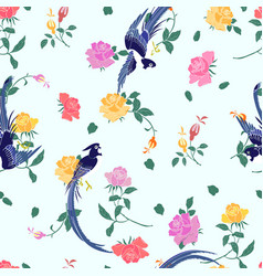 paradise flycatchers vector image