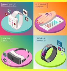 Portable electronics isometric design concept vector