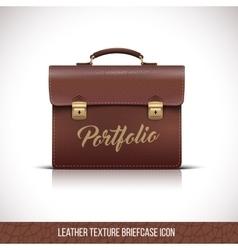 Portfolio brown color icon vector image