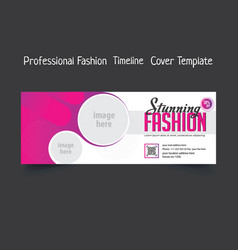 Professional fashion timeline cover template vector