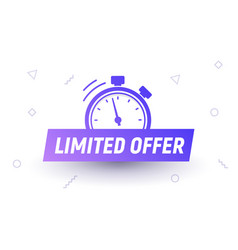 Promo limited offer sale price tag last limited vector