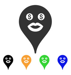 Prostitute smiley map marker icon vector