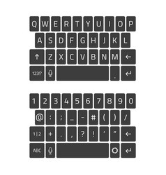 qwerty keyboard smartphone vector image