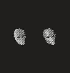 robot logo vector image