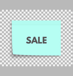 Sale tag promotion coupon design for shopping vector