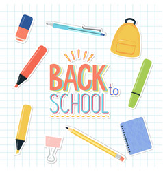 school and office stationary supplies vector image