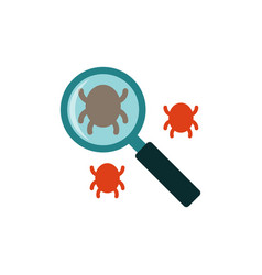 Search bug flat icon vector