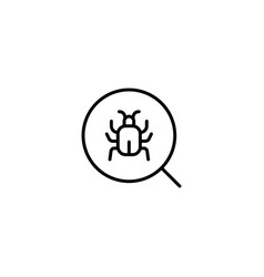 Search bug icon vector