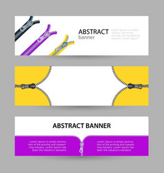 set horizontal banners with empty place for text vector image