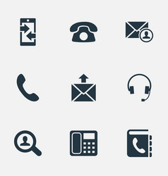 set of simple connect icons vector image