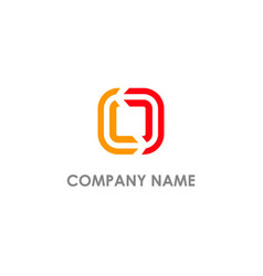 square line circle colored company logo vector image