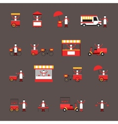 Street food icon flat vector image