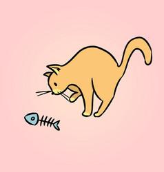 Surprised cat cartoon vector