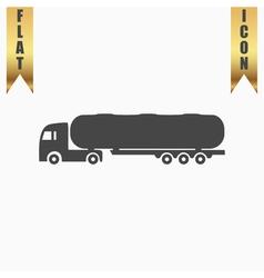 Tank car icon Trailer vector