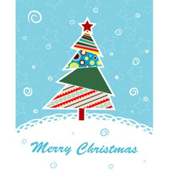template christmas greeting card vector image