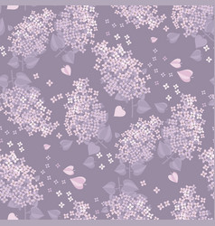 Tender spring lilac blossom twigs seamless pattern vector