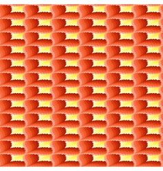 Terracotta and yellow ornamental seamless pattern vector