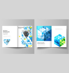 the layout of two a4 format cover mockups vector image