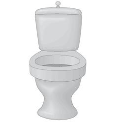 Toilet bowl vector