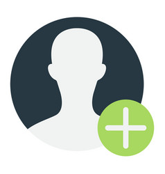 User profile flat icon account and website vector