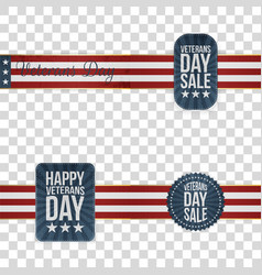 Veterans day badges set vector
