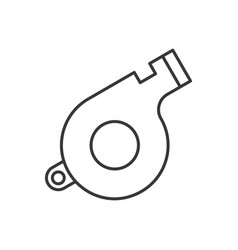 whistle police related icon outline editable vector image