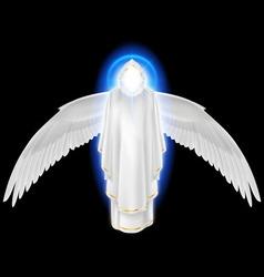 White angel on black vector image