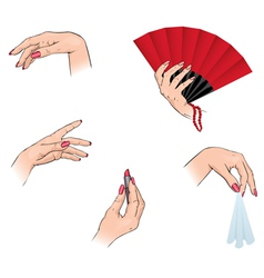 Womens hands vector