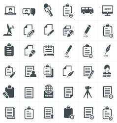 Write and news icon set vector