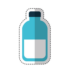 bottle milk isolated icon vector image