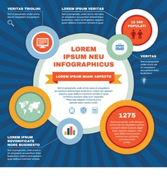 Infographic Business Concept - Scheme vector image vector image