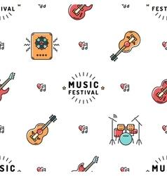 Music seamless pattern Rock festival vector image