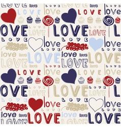 Retro Love Foods Background vector image vector image