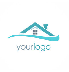 roof house business logo vector image vector image