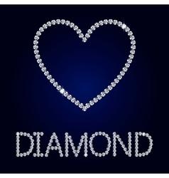 Shiny heart diamond vector image vector image