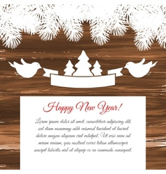 Wooden background with a vintage sign vector image